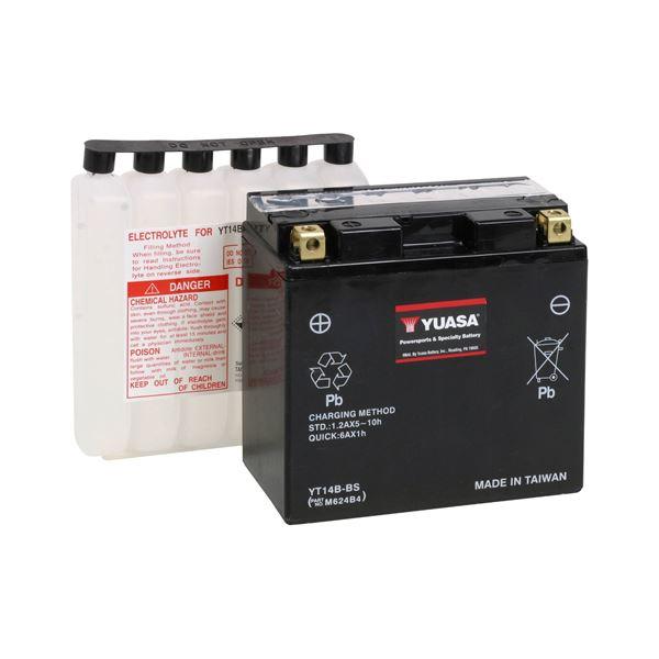 YUASA Batterie fermée avec pack acide YT14B-BS