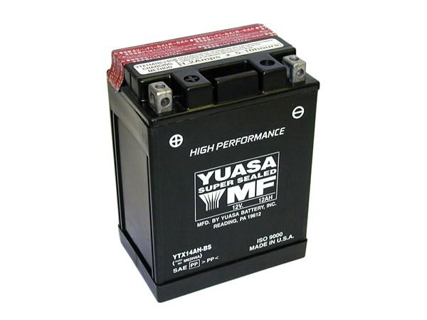 YUASA Batterie sans entretien haute performance YTX14AH-BS
