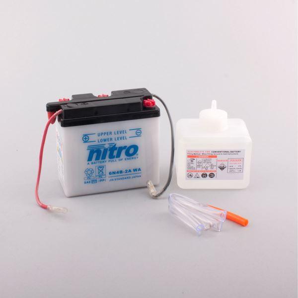NITRO Batterie conventionnelle avec flacon d'acide 6N4B-2A