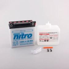 NITRO Batterie conventionnelle avec flacon d'acide 12N5.5-3B