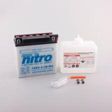 NITRO Batterie 12V conventionnelle avec flacon d'acide 12N5.5-3B