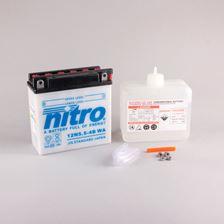 NITRO Batterie 12V conventionnelle avec flacon d'acide 12N5.5-4B