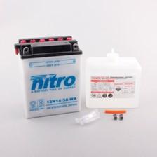 NITRO Conventionele batterij met fles zuur 12N14-3A