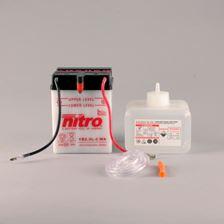 NITRO Batterie conv. anti sulfation avec flacon d'acide YB2.5L-C