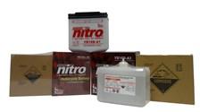 NITRO Conventionele batterij antisulfatie met fles zuur YB5L