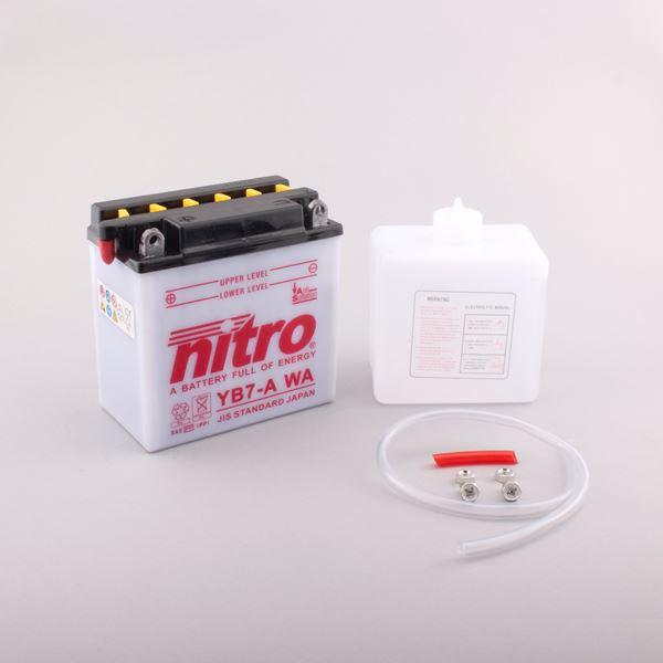 NITRO Conventionele batterij antisulfatie met fles zuur YB7-A