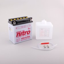 NITRO Batterie conv. anti sulfation avec flacon d'acide YB9-B