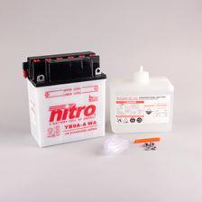 NITRO Conventionele batterij antisulfatie met fles zuur YB9A-A