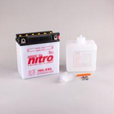 NITRO Conventionele batterij antisulfatie met fles zuur YB9L-B