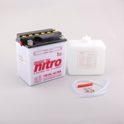 NITRO Batterie conv. anti sulfation avec flacon d'acide