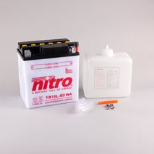 NITRO Batterie conv. anti sulfation avec flacon d'acide YB10L-B2