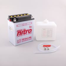 NITRO Batterie conv. anti sulfation avec flacon d'acide YB12A-A