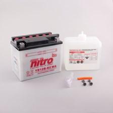 NITRO Batterie conv. anti sulfation avec flacon d'acide YB12B-B2