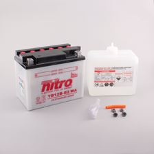 NITRO Conventionele batterij antisulfatie met fles zuur YB12B-B2