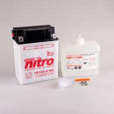 NITRO Batterie conv. anti sulfation avec flacon d'acide YB12C-A