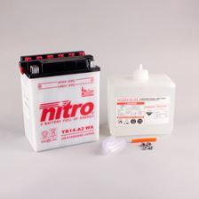 NITRO Batterie conv. anti sulfation avec flacon d'acide YB14-A2