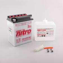 NITRO Conventionele batterij antisulfatie met fles zuur YB14-B2