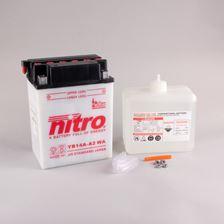 NITRO Conventionele batterij antisulfatie met fles zuur YB14A-A2