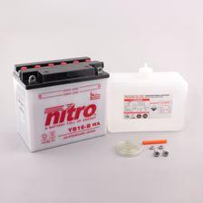 NITRO Batterie conv. anti sulfation avec flacon d'acide YB16-B
