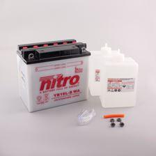 NITRO Conventionele batterij antisulfatie met fles zuur YB16L-B