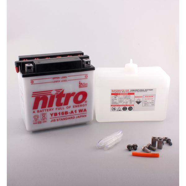 NITRO Conventionele batterij antisulfatie met fles zuur YB16B-A1