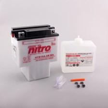 NITRO Batterie conv. anti sulfation avec flacon d'acide HYB16A-AB