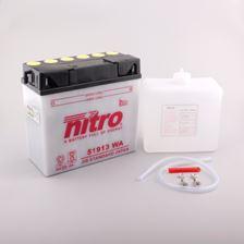 NITRO Batterie conv. anti sulfation avec flacon d'acide 51913