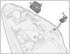 GIVI 'Zonder topkofferhouder' kit PLR/PLX(R) 1121KIT