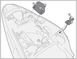 GIVI 'Zonder topkofferhouder' kit PLR/PLX(R)