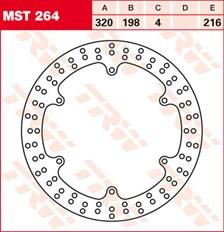 TRW MST vaste remschijf MST264