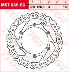 TRW EC disque de frein offroad MST265EC