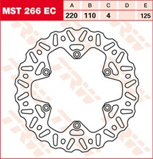 TRW EC disque de frein offroad MST266EC