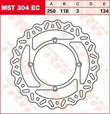 TRW EC disque de frein offroad MST304EC
