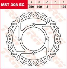 TRW EC disque de frein offroad MST308EC