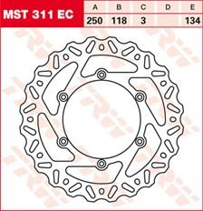 TRW Remschijf MST311EC