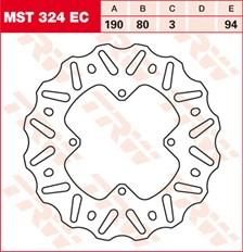 TRW EC disque de frein offroad MST324EC
