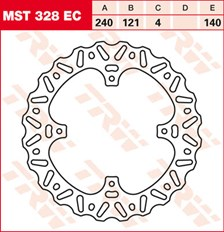 TRW EC disque de frein offroad MST328EC