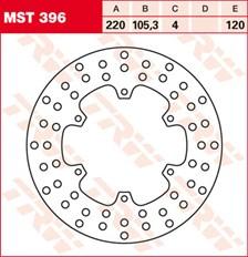 TRW MST vaste remschijf MST396