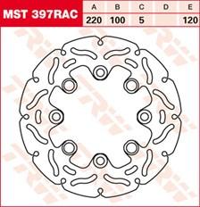 TRW Remschijf MST397RAC