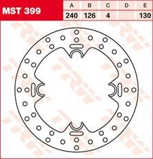TRW MST disque de frein fixe MST399