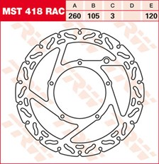 TRW MST disque fixe avec RAC design MST418RAC