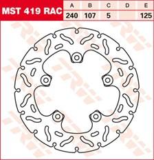 TRW MST disque fixe avec RAC design MST419RAC