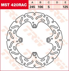 TRW MST disque fixe avec RAC design MST420RAC