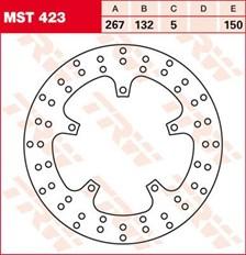 TRW Disque de frein MST423