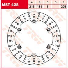 TRW MST disque de frein fixe MST428