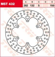 TRW MST vaste remschijf MST432