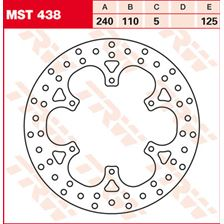 TRW MST disque de frein fixe MST438