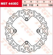 TRW EC disque de frein offroad MST440EC