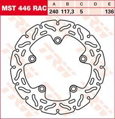 TRW Remschijf MST446RAC