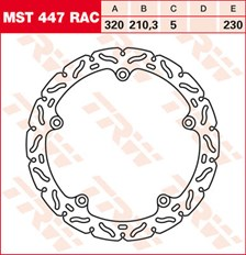 TRW MST disque fixe avec RAC design MST447RAC